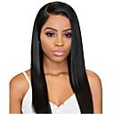 Χαμηλού Κόστους Περούκες από Ανθρώπινη Τρίχα-Συνθετικές μπροστινές περούκες δαντέλας Ίσιο Στυλ Βαθιά διαίρεση Δαντέλα Μπροστά Περούκα Μαύρο Μαύρο Συνθετικά μαλλιά 24 inch Γυναικεία Μαλακό / Η καλύτερη ποιότητα / Hot Πώληση Μαύρο Περούκα Μακρύ