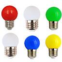halpa LED-pallolamput-6kpl 1 W LED-pallolamput 80-100 lm E26 / E27 G45 8 LED-helmet SMD 2835 Party Koristeltu Joulun hääkoristelu Lämmin valkoinen Valkoinen Punainen 220-240 V
