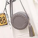cheap Crossbody Bags-Women's Tassel PU(Polyurethane) / PU Crossbody Bag Black / Brown / Blushing Pink