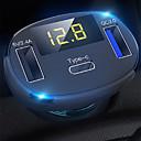 Недорогие Камеры заднего вида для авто-3-портовый USB-адаптер быстрой зарядки автомобильного зарядного устройства со светодиодным вольтметром / автоматическим Bluetooth-передатчиком FM-радио