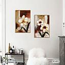 Недорогие Картины в рамах-Отпечаток в раме Набор в раме - Абстракция Цветочные мотивы / ботанический Полистирен Масляные картины Предметы искусства