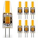 זול כלים לאפייה-7pcs 3 W נורות שני פינים לד 290 lm G4 1 LED חרוזים COB דקורטיבי חמוד לבן חם לבן קר 12 V