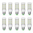 hesapli LED Mısır Işıkları-10pcs 10 W LED Mısır Işıklar 3000 lm G9 B22 E12 / E14 T 69 LED Boncuklar SMD 5730 Sıcak Beyaz Beyaz 220 V 110 V