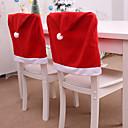 זול חפצים דקורטיביים-דקורטיבי חג המולד כובע בסגנון הכיסא המושב האחורי לכסות