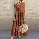 abordables Boucle d'Oreille-Femme Maxi Balançoire Robe Bloc de Couleur Vert Orange Violet XXXL XXXXL XXXXXL Sans Manches