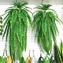זול אחסון וארגון-1 pc סימולציה צמח ירוק צמח תלוי על קיר גדול דשא פרססי ברזל פרס עץ אביזרי קישוט פסיפס מזויף אביזרי קישוט פרחים וצמחים ירוקים