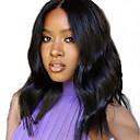 זול פיאות תחרה משיער אנושי-שיער אנושי חזית תחרה פאה חלק חינם בסגנון שיער ברזיאלי גלי Body Wave שחור פאה 130% צפיפות שיער עם שיער בייבי שיער טבעי לנשים שחורות בתולה100% 100% קשירה ידנית שחור בגדי ריקוד נשים ארוך