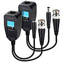 זול אביזרי בטיחות-משדר זוג קואקסיאלי מעוות זוג משדר אספקת חשמל 2 ב 1 כבל רשת ניטור למתאם bnc למערכת אבטחת בית