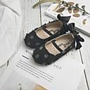 זול סנדלים לילדים-בנות נעליים לילדת הפרחים קנבס שטוחות ילדים קטנים (4-7) פפיון לבן / שחור / ורוד קיץ