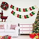 זול חוט נורות לד-גרביונים / חג מולד / קישוטים לחג המולד חופשה / משפחה בד לא ארוג Mini סרט מצויר / Party / מודרני, חדשני קישוט חג המולד