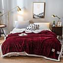 זול שמיכות וכיסויים-שמיכות מיטה / סופה לזרוק / שמיכות רב תכליתיות, צבע אחיד פלנל פליז / פּוֹלִיאֶסטֶר נוח רך מאוד סמיך
