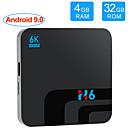 Недорогие Приставки TV Box-H6 TV Box Android 8,1 Allwinner H6 UHD медиаплеер 6 К HDR 4 ГБ 32 ГБ 2,4 г Wi-Fi TV Box 100 м LAN USB 3.0 H.265 vp9