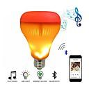 זול נורות LED חכמות-הוביל רמקול מוסיקה נורה עם אפקט להבה אור rgb החלפת מנורה מנורת שמע סטריאו אלחוטית עם שלט רחוק