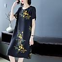 povoljno Burkini-Žene Sofisticirano Elegantno Shift Haljina - Print, Cvjetni print Geometrijski oblici Midi Rep sirene Djed Mraz Fantastične zvijeri