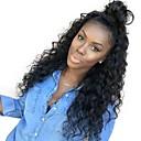 זול פיאות תחרה משיער אנושי-שיער אנושי תחרה מלאה פאה חלק חינם בסגנון שיער ברזיאלי עמוק שחור פאה 130% צפיפות שיער נשים בגדי ריקוד נשים ארוך פיאות תחרה משיער אנושי Clytie