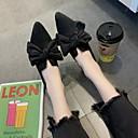 זול נעלים שטוחות לנשים-בגדי ריקוד נשים שטוחות שטוח בוהן מחודדת פפיון גומי קלסי קיץ & אביב שחור / חום כהה