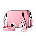 cheap Crossbody Bags-Girls' Zipper PU(Polyurethane) / PU Crossbody Bag Geometric Pattern Black / Blushing Pink / Fuchsia / Fall & Winter