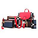 povoljno Komplet torbi-Žene Patent-zatvarač PU Bag Setovi Color block 4 kom Crn / Braon / Red