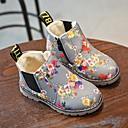 halpa Lasten saappaat-Tyttöjen Kiiltonahka Bootsit Pikkulapset (4-7 vuotta) Maiharit Kukkakuvio Musta / Harmaa Talvi / Säärisaappaat