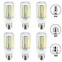 hesapli LED Mısır Işıkları-6pcs 20 W LED Mısır Işıklar 2000 lm E14 B22 E26 / E27 T 144 LED Boncuklar SMD 5730 Yeni Dizayn Sıcak Beyaz Beyaz 220-240 V 110-120 V
