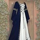 זול שמלות לוליטה-מבוגרים בגדי ריקוד נשים קוספליי רטרו ימי הביניים שמלות תחפושות קוספליי עבור Party Halloween פֶסטִיבָל polyster האלווין (ליל כל הקדושים) קרנבל נשף מסכות שמלה