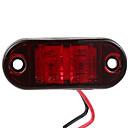 זול תאורת קישוט לרכב-2.5 מנורת led אדומה 2 דיודה בצורת אליפסה סמל צד מנורת סמן צד מנורת קרוואן
