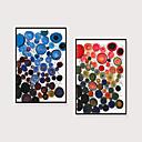 halpa Kehystetty taide-Kehystetty taidepainate Kehystetty setti - Abstrakti Polystyreeni Illustration Wall Art