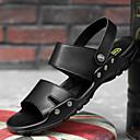 זול סנדלים לגברים-בגדי ריקוד גברים נעלי נוחות PU קיץ סנדלים נושם שחור