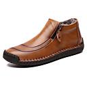 זול מגפיים לגברים-בגדי ריקוד גברים נעלי נוחות עור חורף קלסי / יום יומי מגפיים שמור על חום הגוף מגפונים\מגף קרסול שחור / חום / צהוב