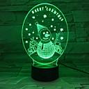זול אורות 3D הלילה-איש שלג 3d אפקטים של תאורה ייחודית אשליה אופטית הוביל מנורת שולחן קישוט חג מולד שמח 7 צבעים מתנת חג אור לילה