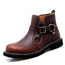 povoljno Muške čizme-Muškarci Vojničke čizme Koža Proljeće / Jesen zima Klasik / Uglađeni Čizme Hodanje Non-klizanje Čizme gležnjače / do gležnja Crn / Braon