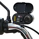 זול רכב הגוף קישוט והגנה-שקע חשמל מטען עמיד למים לאופנוע 5 v 3.1a מתג שקע usb כפול מכונית מתג מצית מד מתח תצוגה דיגיטלית
