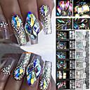 povoljno Umjetno drago kamenje&Dekoracije-3d ab dijamantni dragulji glitter za nokte rhinestone kristalno staklo nail art decor 12 kutija
