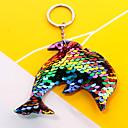 זול שרשראות מפתח-שרשרת מפתחות דולפין קוראני אופנתי צבעוני Fashion Ring תכשיטים קשת / פוקסיה / אדום עבור יומי