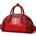 povoljno Tote torbe-Žene Patent-zatvarač PU Torba s ručkom Jedna barva Braon / Lila-roza / Plava