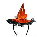 זול עזרים ל-Halloween-קוסם כובעים עזרים ל-Halloween נשף מסכות בגדי ריקוד נשים כובע פאייטים האלווין (ליל כל הקדושים) קרנבל נשף מסכות פסטיבל / חג תחרה Paillette מוזהב / צבעוני / סגול בגדי ריקוד נשים תחפושות קרנבל