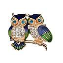 povoljno Moderni broševi-Žene Broševi Sova Slatka Style Broš Jewelry Zlato Za Dnevno