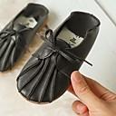 זול Kids' Flats-בנות נעליים לילדת הפרחים PU נעליים ללא שרוכים ילדים קטנים (4-7) חום / לבן / שחור סתיו