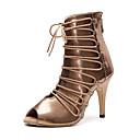 povoljno Cipele za latino plesove-Žene Plesne cipele Eko koža Ples čizme Štikle Deblja visoka potpetica Moguće personalizirati Zlato