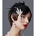 povoljno Stare svjetske nošnje-Čarlston Vintage 1920s Gatsby Traka za kosu u stilu 20-ih Žene Kostim Crn / Zlatan / Srebrna Vintage Cosplay Festival