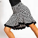 povoljno Odjeća za latino plesove-Latino ples Donji Žene Trening Crystal Pamuk Uzorak / print / Nabori Suknje