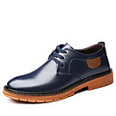 baratos Oxfords Masculinos-Homens Sapatos formais Pele Outono & inverno Negócio / Clássico Oxfords Respirável Preto / Marron / Azul