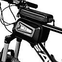 זול כיסוי לאופניים-טלפון נייד תיק תיקים למסגרת האופניים 5.8 אִינְטשׁ רכיבת אופניים ל רכיבה על אופניים שחור אופניים מתקפלים רכיבת פנאי אופניים הילוך קבוע