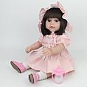halpa Reborn Dolls-NPK DOLL Reborn Dolls Reborn Toddler Doll Tyttövauvat 20 inch Turvallisuus Gift Sievä Lasten Unisex / Tyttöjen Lelut Lahja
