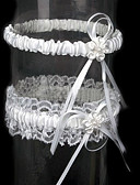 זול סוודרים לנשים-תחרה סאטן קלסי בירית חתונה  -  עניבת פרפר פרח ביריות
