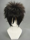 povoljno Stole za vjenčanje-Cosplay Wigs Naruto Sasuke Uchiha Crn Anime Cosplay Wigs 12 inch Otporna na toplinu vlakna Muškarci Halloween perika