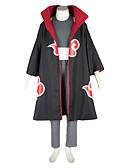 hesapli Göbek Dansı Giysileri-Esinlenen Naruto Kakuzu Anime Cosplay Kostümleri Cosplay Takımları Zıt Renkli Uzun Kollu Yelek Pantalonlar Başlık Kemer Pelerin Maske