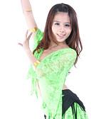 ieftine Ținută Dans din Buric-Dans din Buric Tops Pentru femei Antrenament Dantelă Dantelă Lungime Manșon 3/4 Căzut Vârf