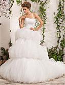 povoljno Vjenčanice-Lopta haljina špageti trake Kapela Vlak tila satena vjenčanicu