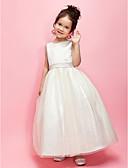 Χαμηλού Κόστους Λουλουδάτα φορέματα για κορίτσια-Γραμμή Α / Βραδινή τουαλέτα Μέχρι τον αστράγαλο Φόρεμα για Κοριτσάκι Λουλουδιών - Σατέν / Τούλι Αμάνικο Με Κόσμημα με Φιόγκος(οι) / Ζώνη / Κορδέλα με LAN TING BRIDE® / Άνοιξη / Καλοκαίρι / Φθινόπωρο